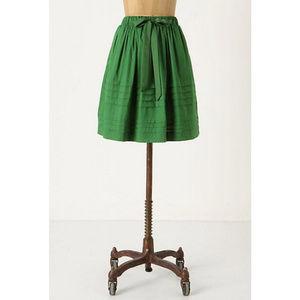 Anthropologie Odille Kelly Green Roll Call Skirt